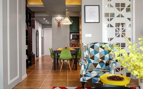 客厅橙色地砖简单风格装潢图片