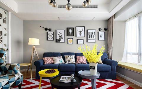 客厅灰色照片墙简单风格装饰设计图片
