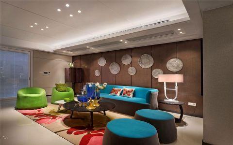 120平米简约风格二居室装修效果图
