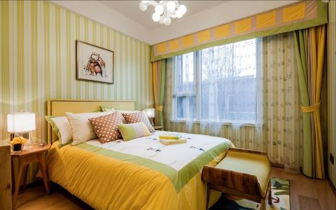 卧室床现代简约风格效果图