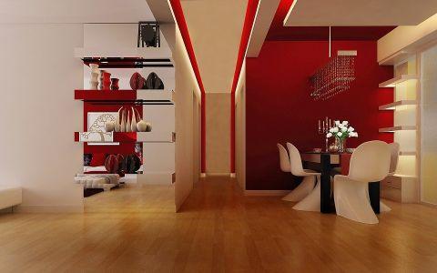餐厅地板砖现代简约风格装潢图片