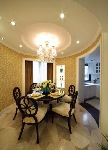 餐厅窗帘简欧风格装饰图片