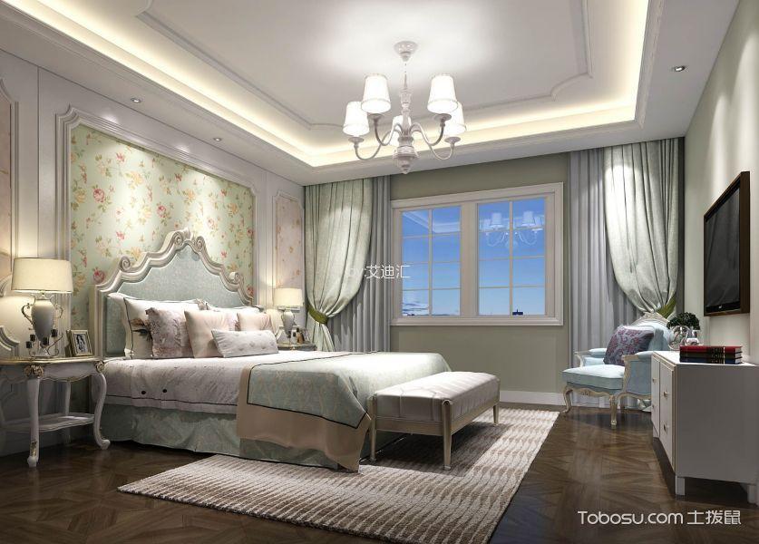 卧室白色电视柜欧式风格装潢图片
