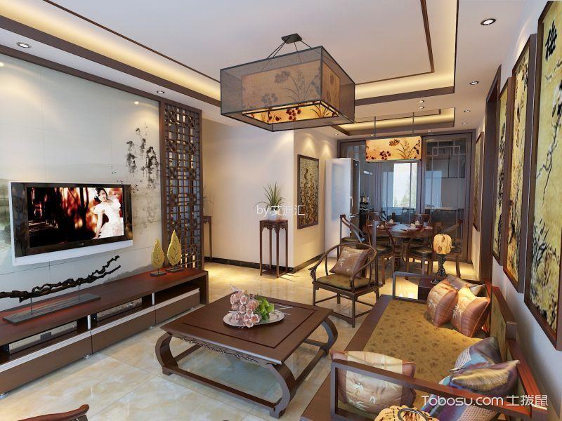中式风格110平米套房室内装修效果图
