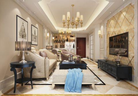 欧式风格120平米公寓室内装修效果图