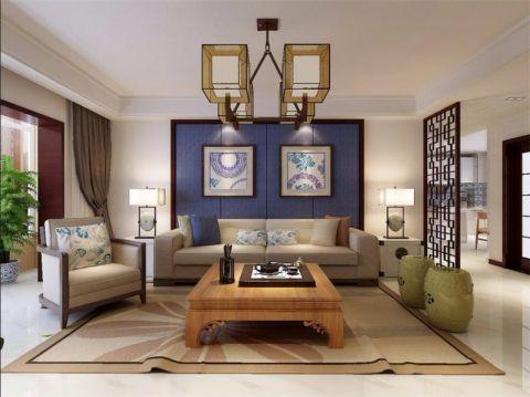 现代简约风格124平米大户型室内装修效果图