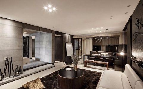 现代简约风格90平米两室两厅新房装修效果图