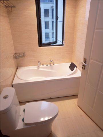 浴室浴缸美式风格装饰效果图