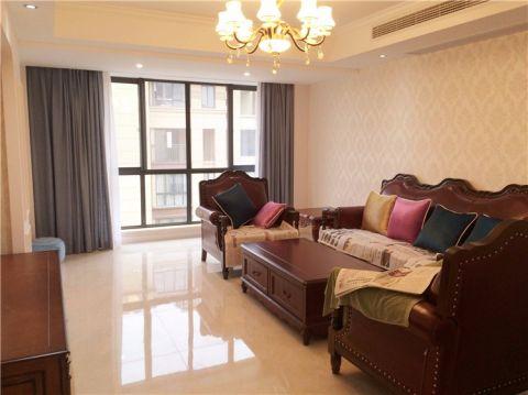 美式风格134平米跃层室内装修效果图