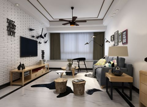 简约风格80平米套房室内装修效果图