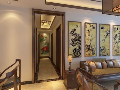 玄关吊顶中式风格装饰图片