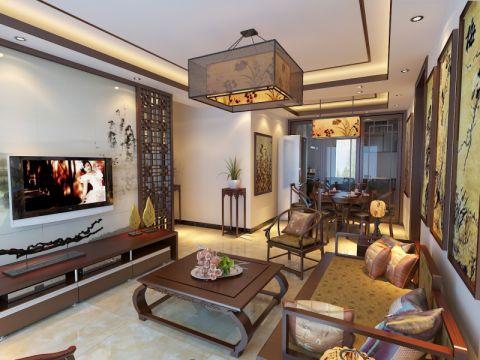 中式风格120平米套房室内装修效果图