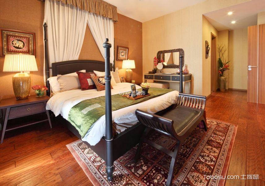卧室咖啡色地板砖现代风格装饰效果图