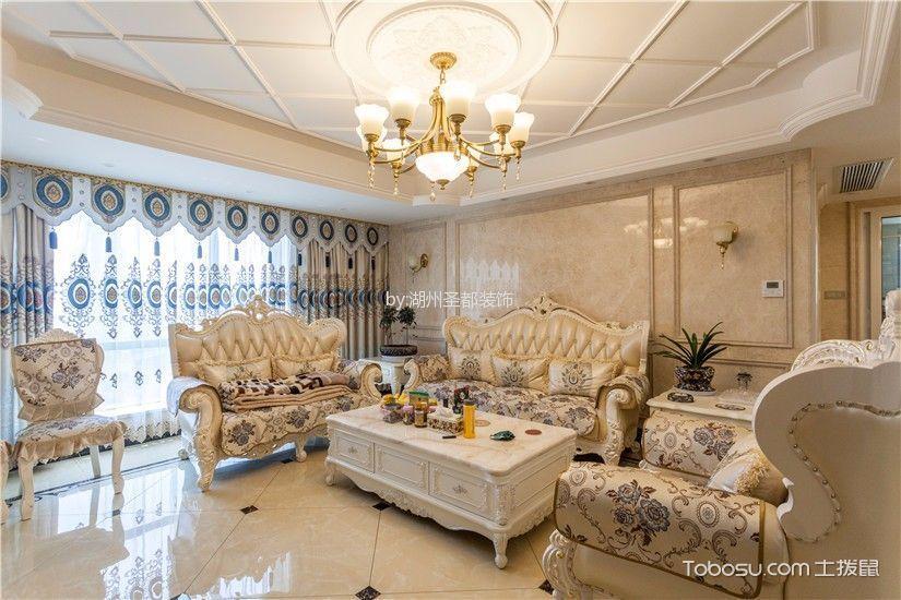 欧式风格167平米三室两厅室内装修效果图