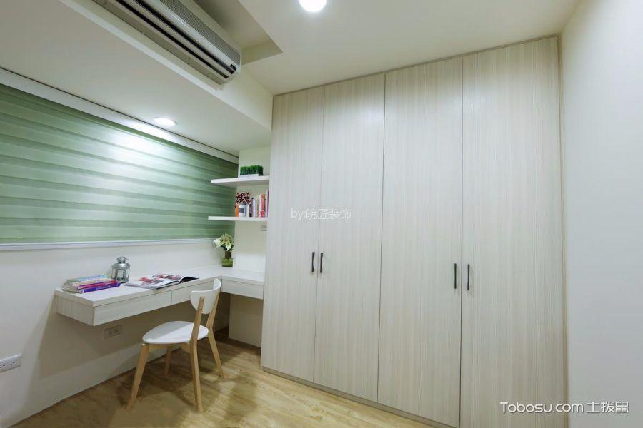 书房白色书桌日式风格装饰图片