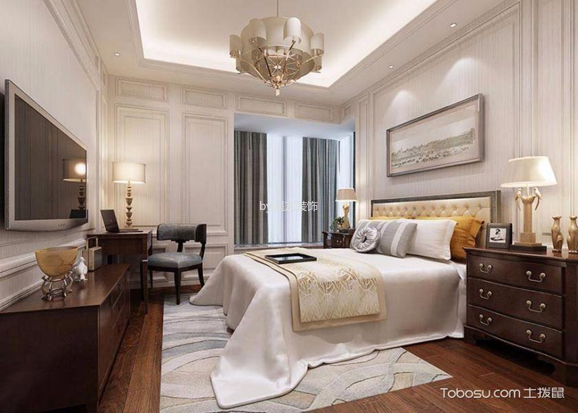 卧室 床头柜_现代风格120平米三室两厅新房装修效果图