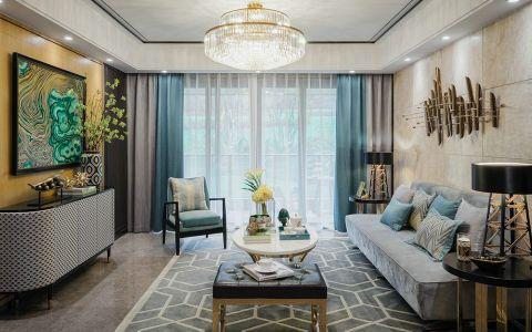美式风格120平米公寓新房装修效果图