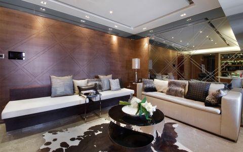 混搭风格150平米三室两厅新房装修效果图