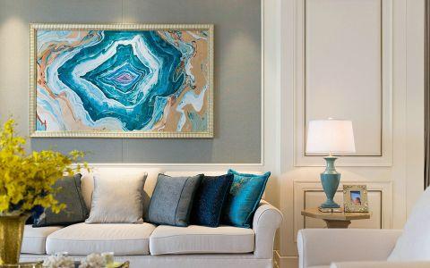客厅照片墙北欧风格效果图