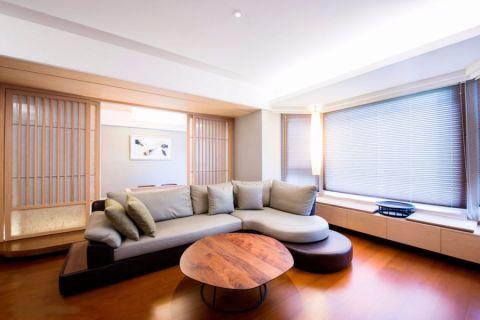 翡翠花园80平米两居室日式装修效果图