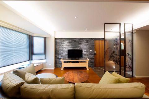 客厅电视柜日式风格装饰设计图片