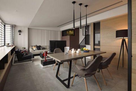 现代风格80平米复式室内装修效果图