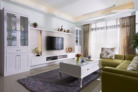 混搭风格90平米两室两厅新房装修效果图