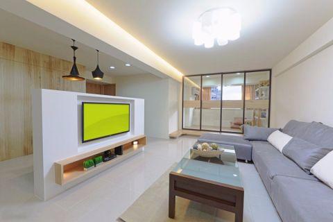 日式风格80平米三室两厅新房装修效果图
