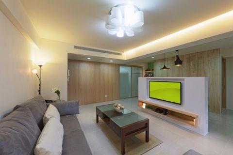 客厅沙发日式风格装潢图片