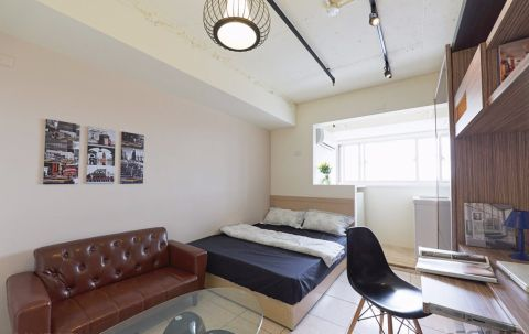 现代风格40平米套房新房装修效果图