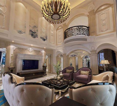 客厅茶几法式风格装饰效果图