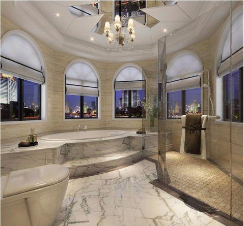 浴室浴缸法式风格装潢设计图片