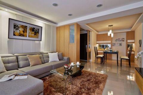 海亮熙园110平米现代三居装修效果图