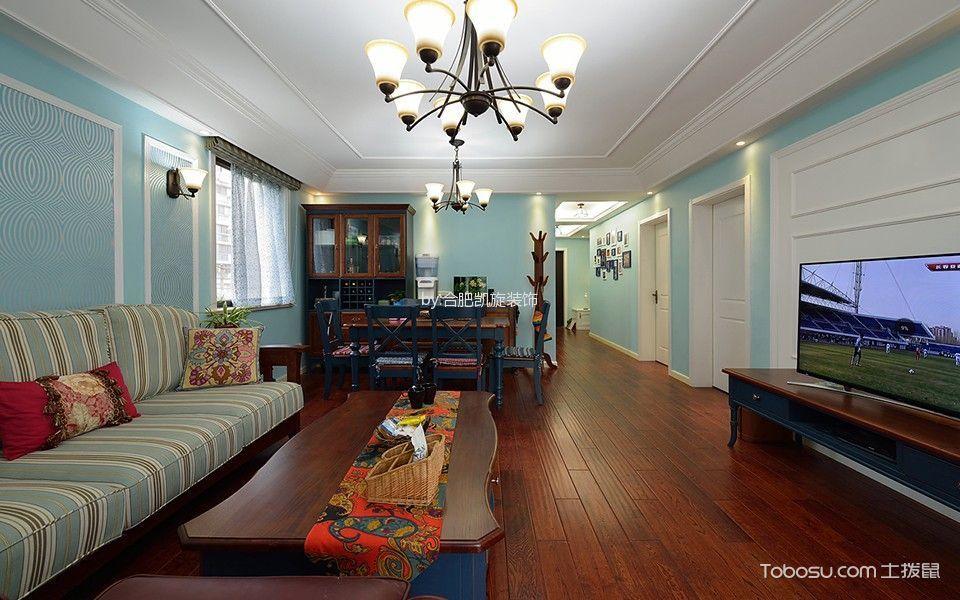 客厅咖啡色地板砖地中海风格装潢效果图