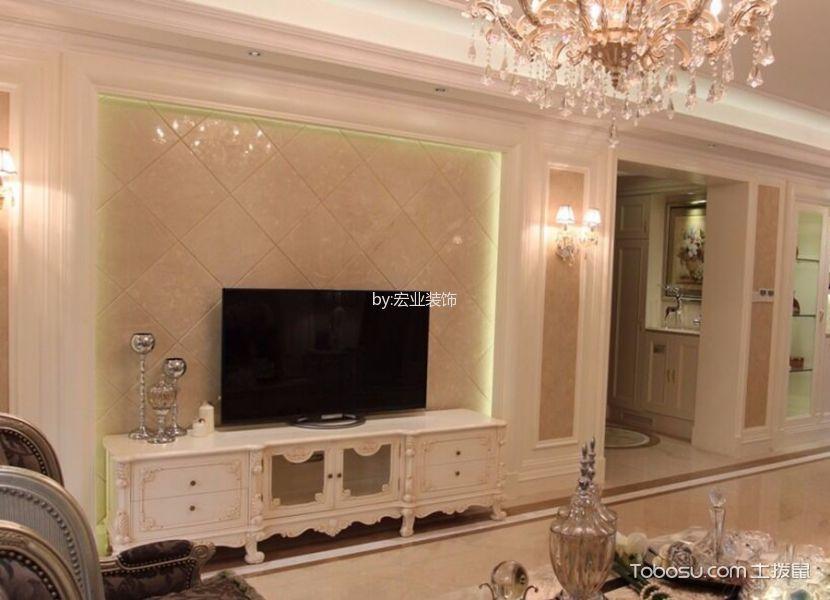 客厅白色电视柜欧式风格装修效果图