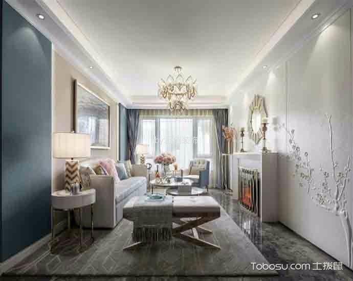 客厅 吊顶_欧式风格120平米大户型室内装修效果图