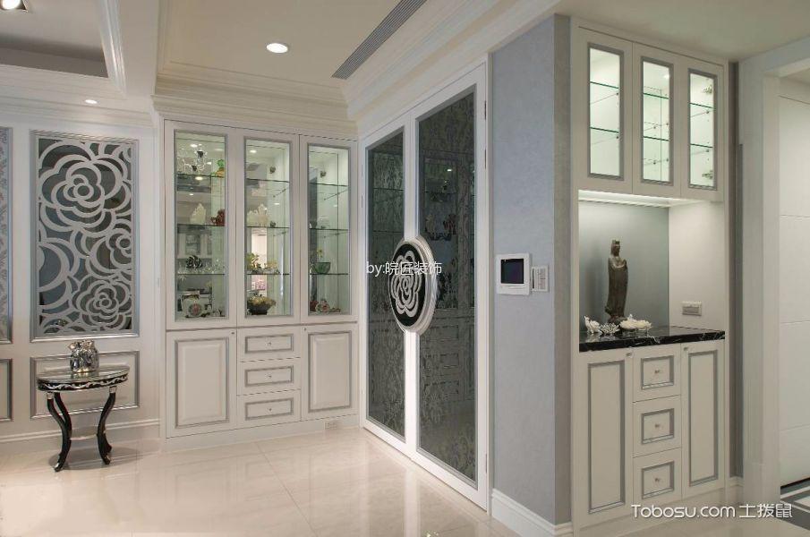 玄关白色地砖新古典风格装潢设计图片