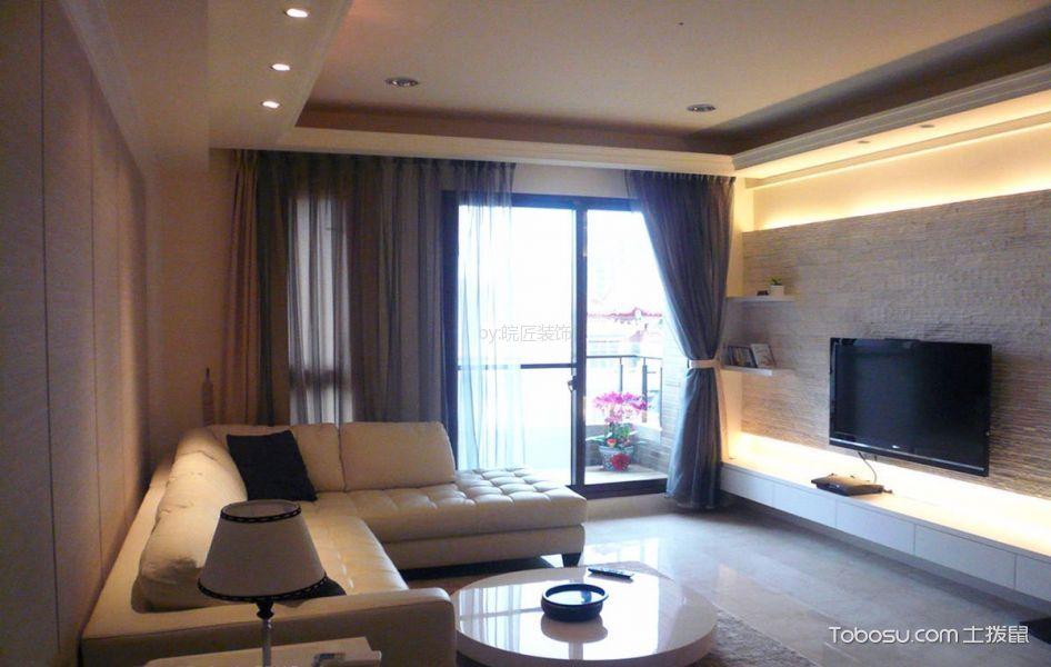 客厅 窗帘_简约风格100平米三室两厅新房装修效果图