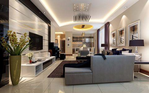 后现代风格150平米三室两厅新房装修效果图