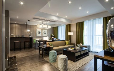现代风格120平米套房室内装修效果图