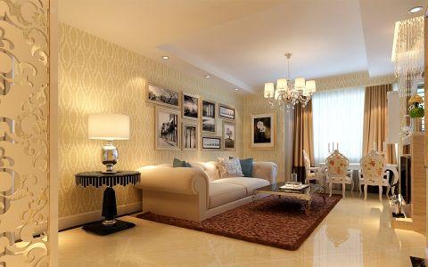 简欧风格89平米一居室室内装修效果图