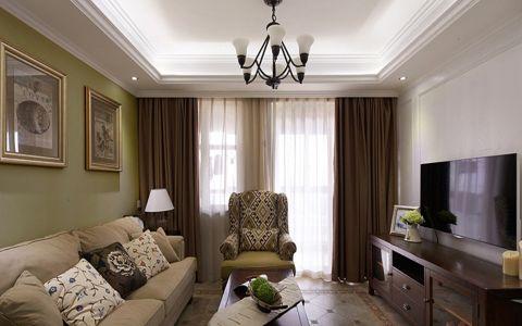 简欧风格90平米楼房室内装修效果图