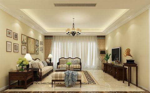 中信山语湖美式风格四居室装修效果图