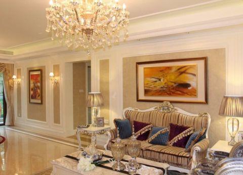 欧式风格120平米套房室内装修效果图