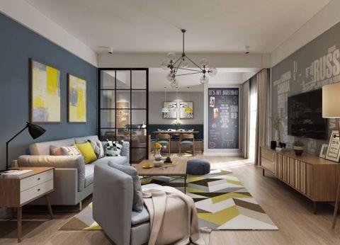 北欧风格130平米套房室内装修效果图