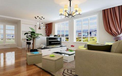 世纪雅苑现代简约90平米二居室装修效果图