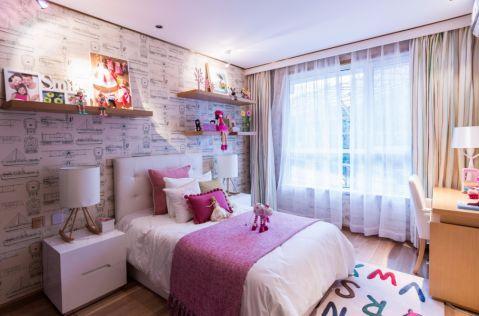 儿童房窗帘现代简约风格效果图