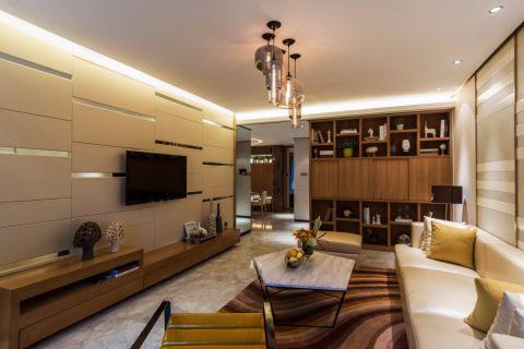 尙泽大都会110平米现代简约三居装修效果图