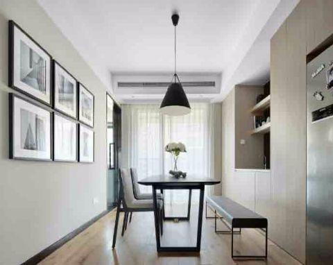 餐厅照片墙简单风格装饰图片