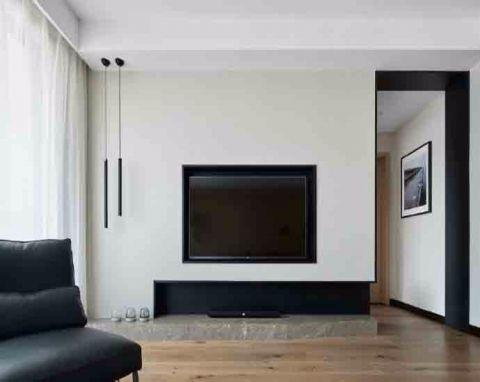 客厅背景墙简单风格装潢图片